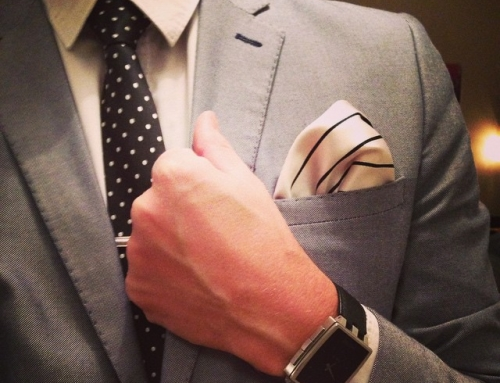 Instagram – Polka dotted black #tie witch matching #pocketsquare #ootd