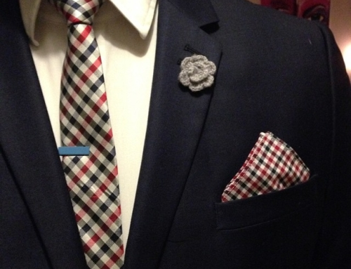 Instagram – Almost to good match with the checked #pocketsquare and #tiebar #ootd