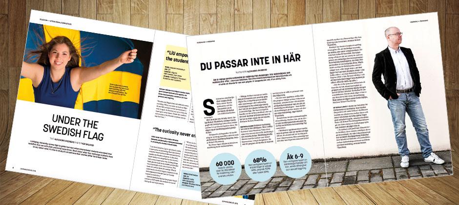 Exempel på texter i LiU Magasin Alexander Åkerberg