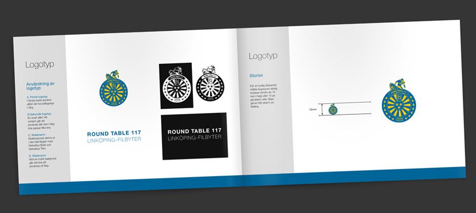 Grafisk profil för Round Table 117 Linköping-Filbyter